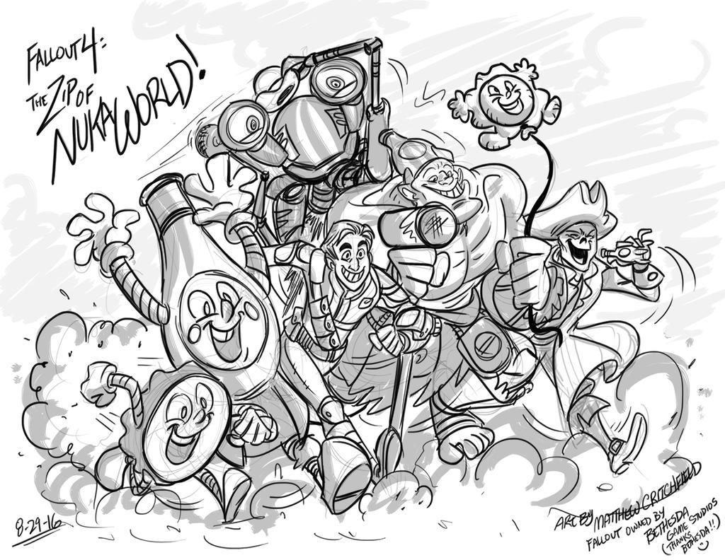 Fallout 4 - The Zip of Nuka World! - 8-29-16 by Mattartist25