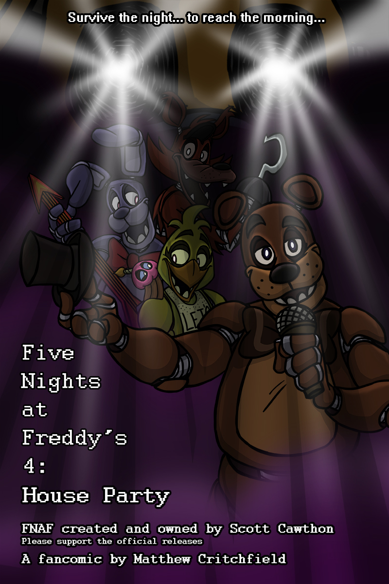 FNAF4 - House Party - Cover Page - 8-17-16 by Mattartist25
