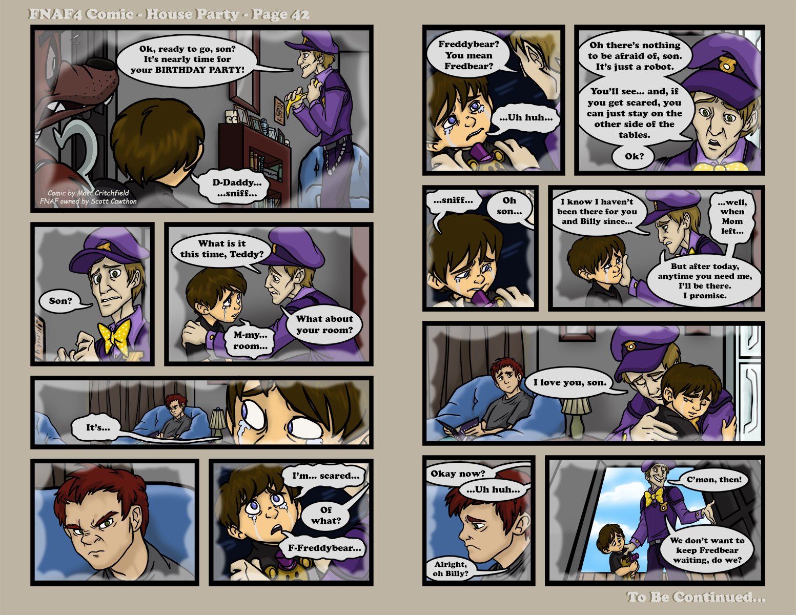 Fnaf Comics En Español fnaf4 comic - house party - page 42 - 12-23-16