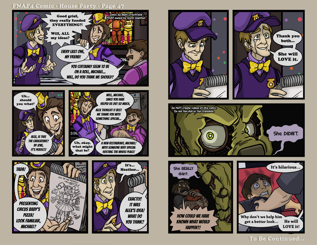Elegant FNAF4 Comic   House Party   Page 47   1 19 17 By Mattartist25 ...