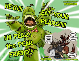 Peary the Pear Friend - 4-1-17 by Mattartist25