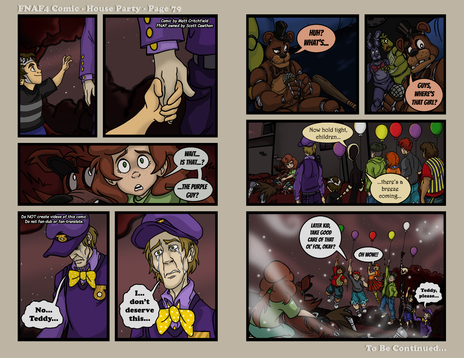 FNAF4 Comic House Party Page 79 7717 by