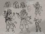 Sketching - Jack Sparrow 01 - 12-9-17 by Mattartist25