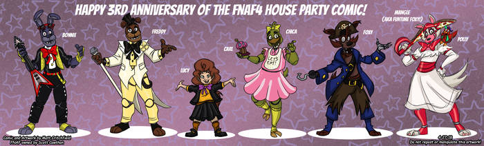 FNAF4 House Party - Cast Lineup - 4-27-18 by Mattartist25