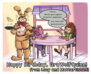 Happy Birthday GraWolfQuinn! - 7-2-18 by Mattartist25