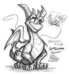 Sketching - 008 - Spyro and Sparx - 1-7-19