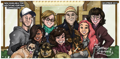 Happy Holidays 2018 - Caricature Group - 3-14-19 by Mattartist25