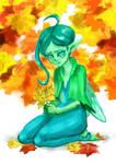 the last autumn leaf