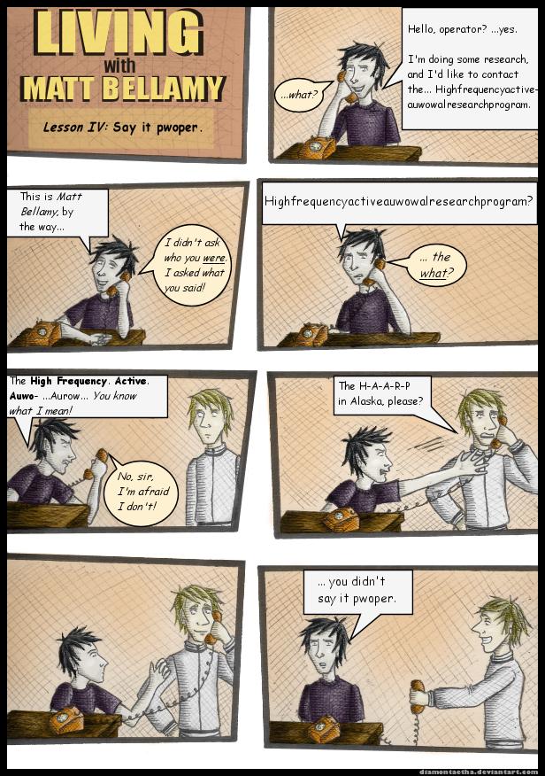 Living with Matt Bellamy IV by Diamontaetha