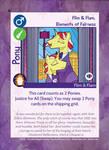 TSSSF Pony Card - Flim Flam - Elements of Fairness