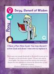 Pony Card - Derpy, Element of Wisdom 1.0.6
