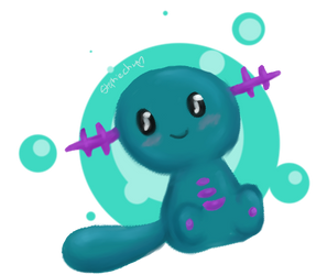 A happy Wooper by BeybladerSteph-chan