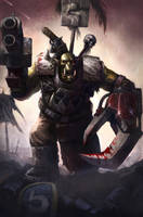 Blood and Thunder: Ork Warboss by wraithdt
