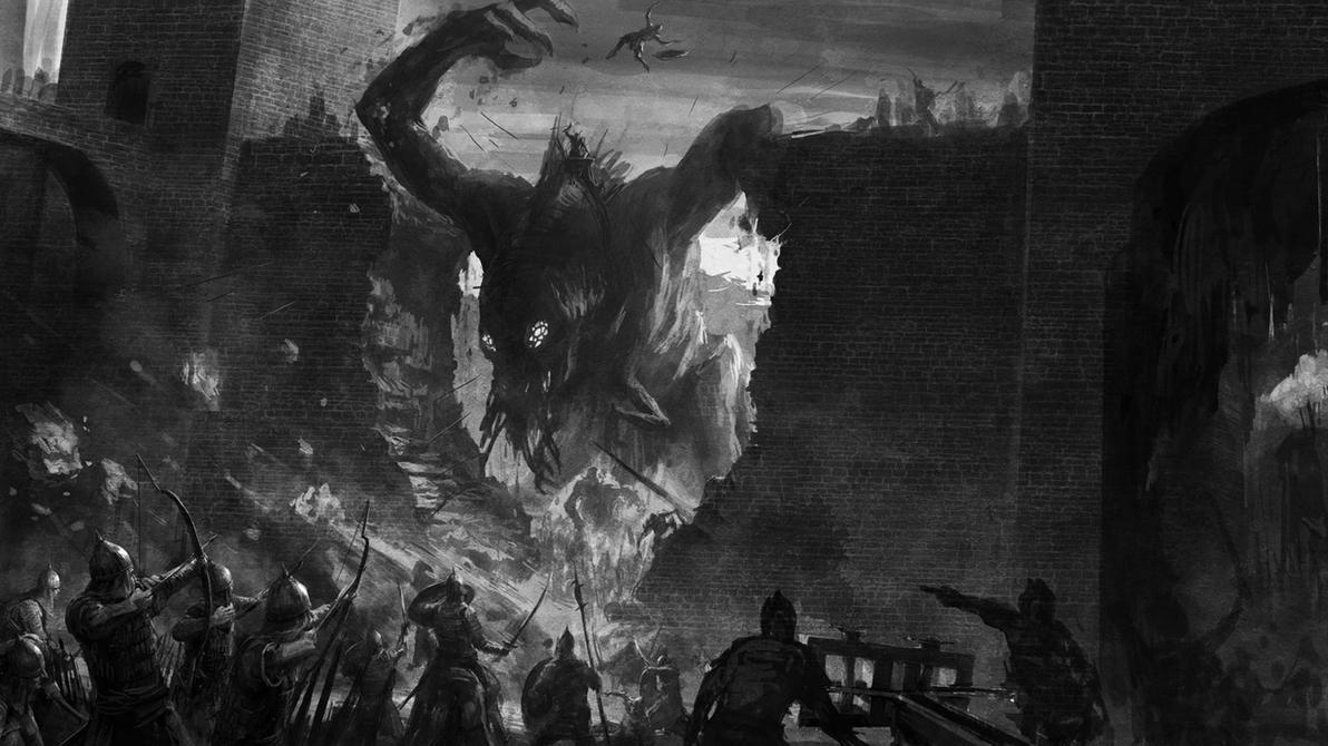 Epic Monster Battle by wraithdt