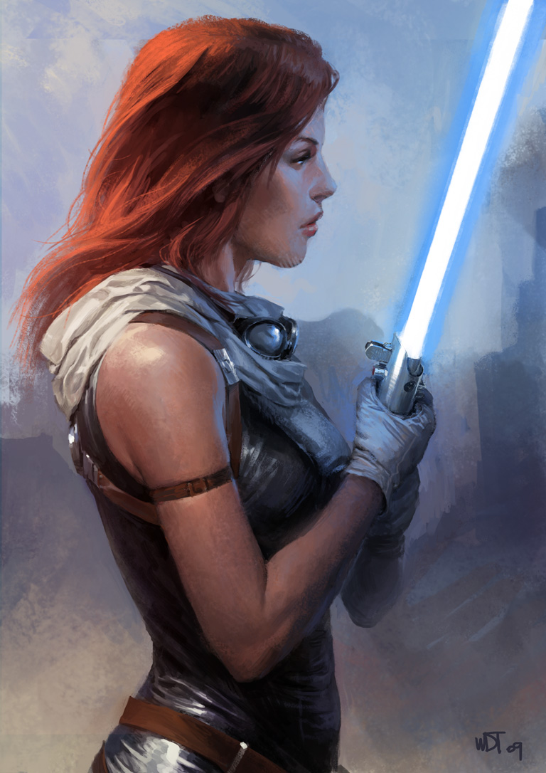 Mara Jade Skywalker by wraithdt