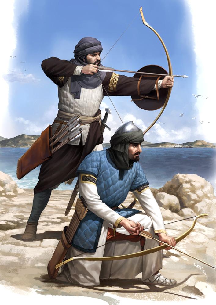 Sicilian Saracen Archers by wraithdt