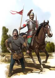 Visigoth Warriors by wraithdt