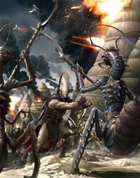 Ancient Battle by wraithdt