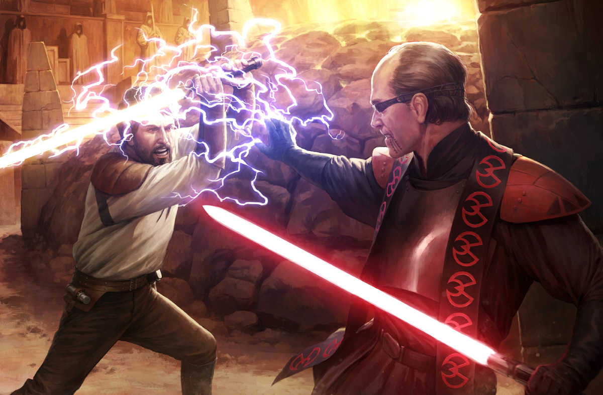 Duel at the Valley Of The Jedi by wraithdt