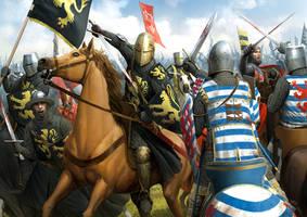 Battle of Worringen by wraithdt