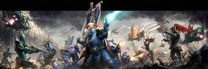 Warhammer 40K: Conquest Box Art by wraithdt