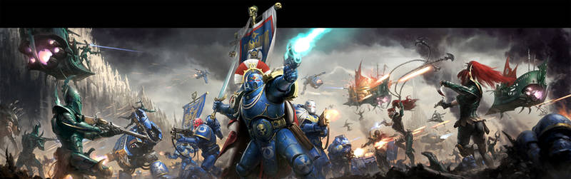 Warhammer 40K: Conquest Box Art by wraithdt