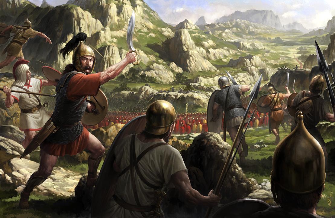 Viriato against the Romans by wraithdt