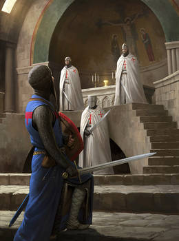 Templars Guarding the Holy Grail