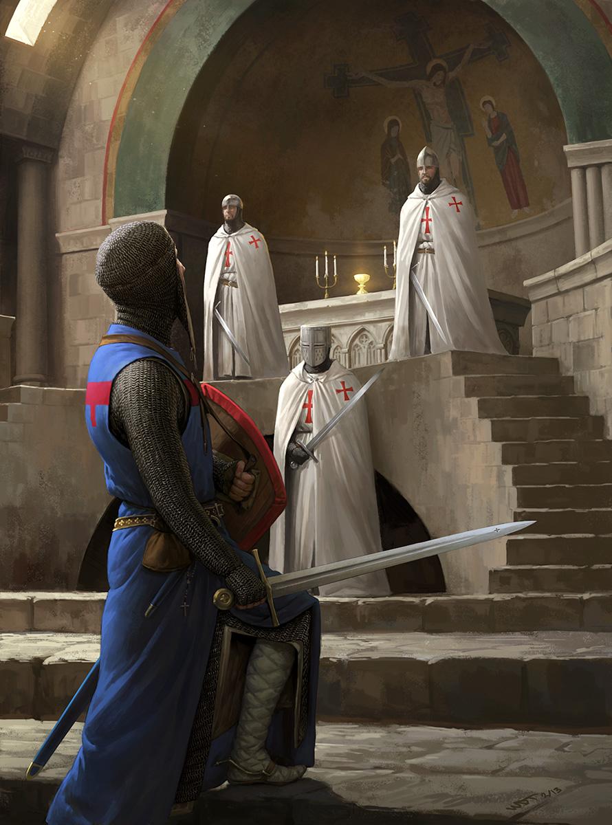 Templars Guarding the Holy Grail by wraithdt