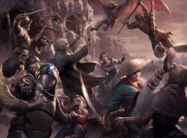 Vampire Hunter Battle by wraithdt