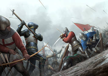 Battle of Agincourt by wraithdt