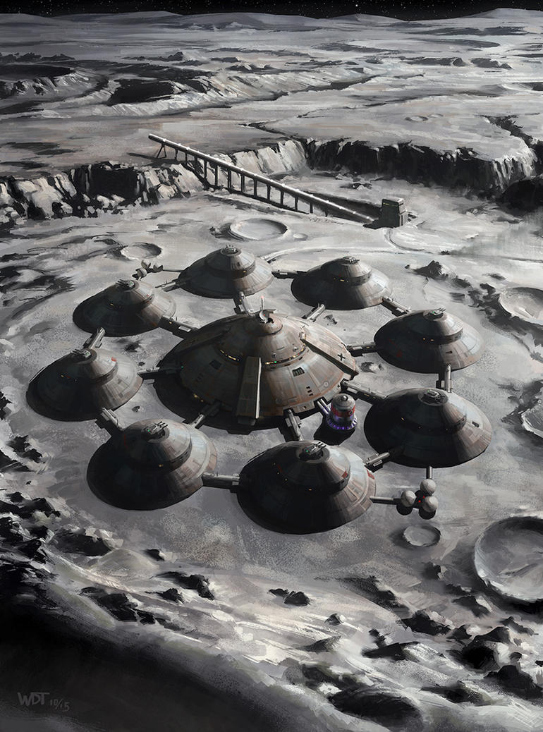 moon base drawing - photo #12