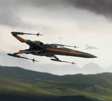 XWMG - Poe Dameron's X-wing by wraithdt