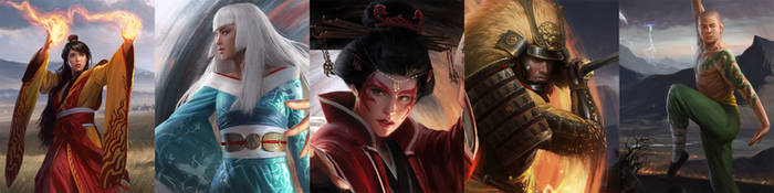 Legend Of The Five Rings LCG Box Art(Close Ups)