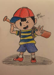 Drawing of Ness by ZeldaGeek39