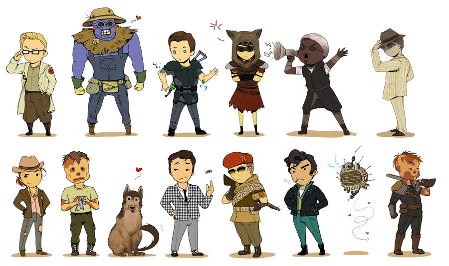 Fallout 3 Anime Characters : Fallout chibis extravaganza by momo deary on deviantart