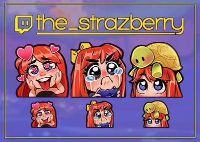 co: Strazberry emotes