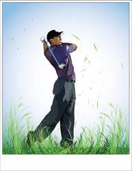 Tiger Woods Vector