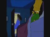 Homer scares Bart by Rankakiu