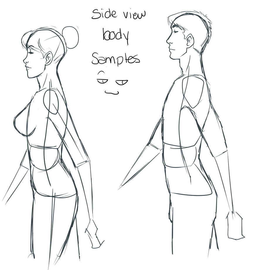 Tutorial - Side view body by Val4s-san on DeviantArt