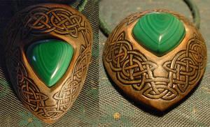 celtic malachite amulet