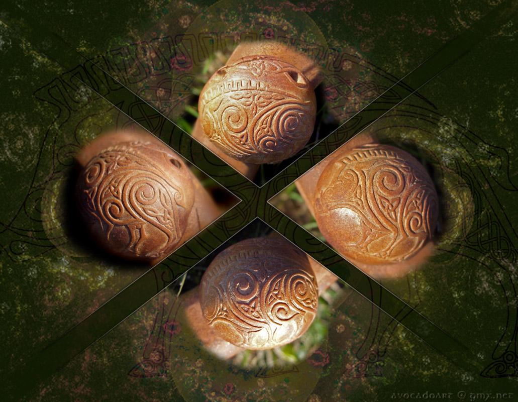 celtic boar pendant