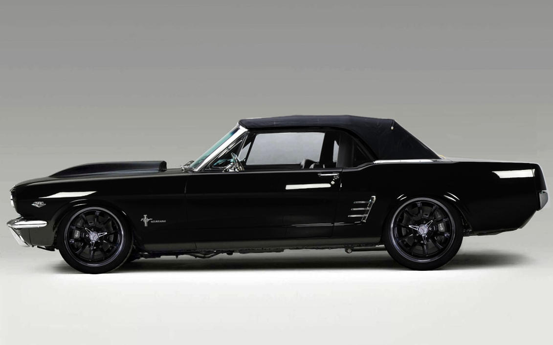 Convertible Mustang - Black on Black by lovelife81