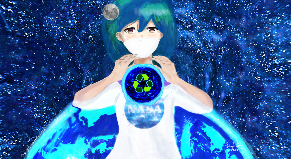 Earth Chan by Nightxlash
