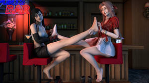 Tifa and Aerith Feet Tickled