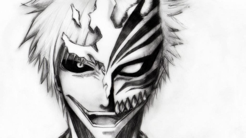 Bleach-hollow-ichigo-drawings-projectholy1 By Projectholy1