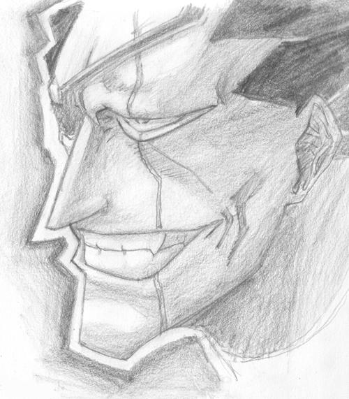 Bleach Kenpachi Zaraki Sketch By InuIzzy