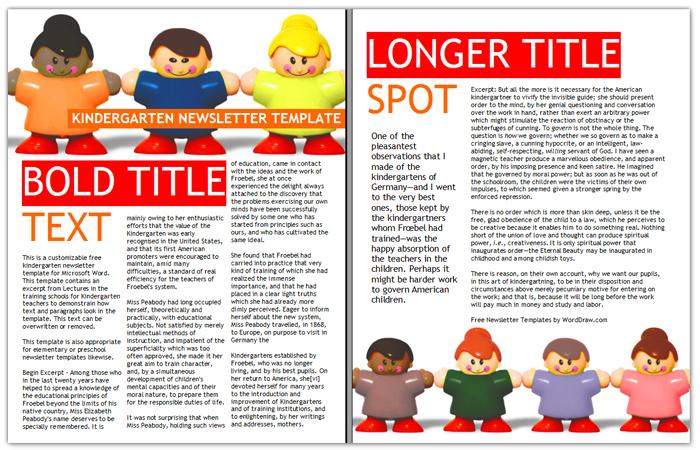 kindergarten newsletter by worddraw on deviantart. Black Bedroom Furniture Sets. Home Design Ideas