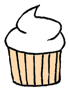 White Cupcake Clipart - More information