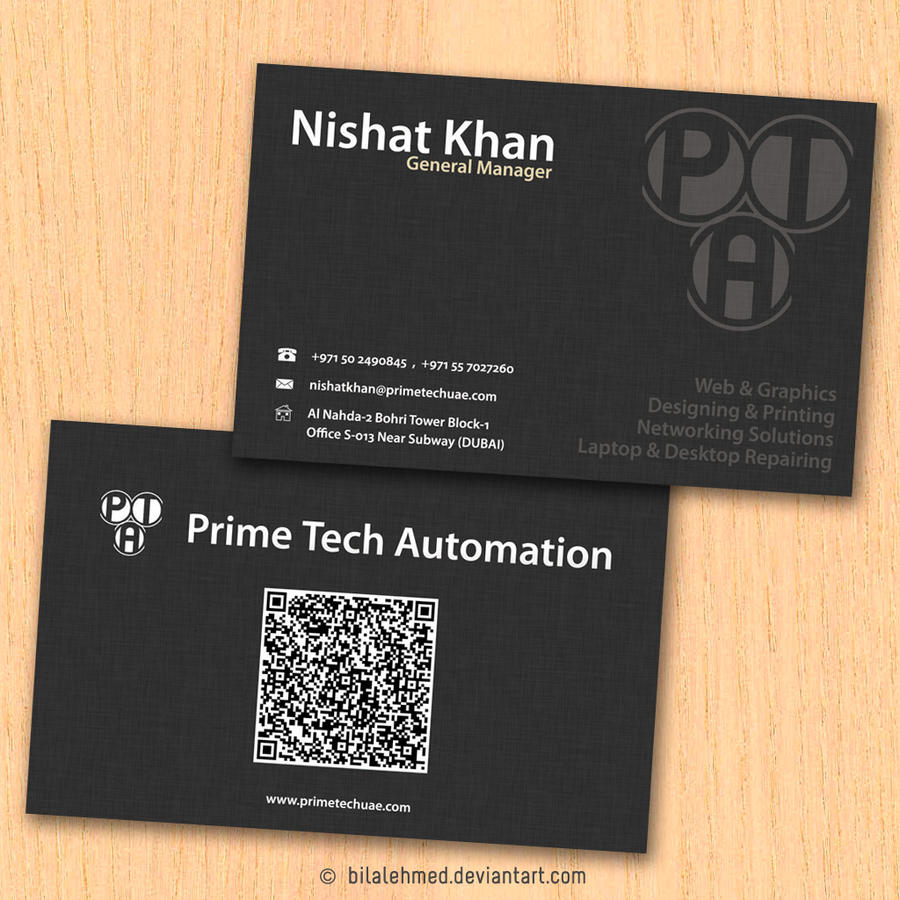 Textured Paper Business Card by bilalehmed on DeviantArt